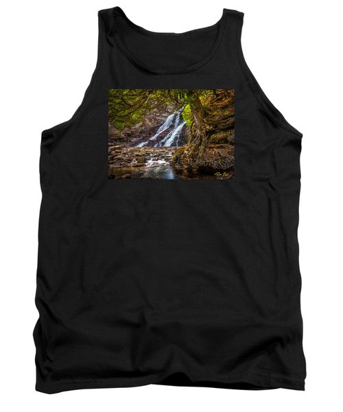 Tank Top featuring the photograph Caribou Falls In Fall by Rikk Flohr