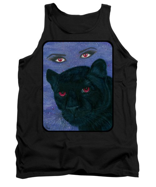 Tank Top featuring the painting Carmilla - Black Panther Vampire by Carrie Hawks