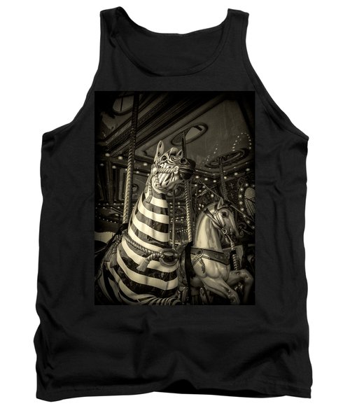 Tank Top featuring the photograph Carousel Zebra by Caitlyn Grasso