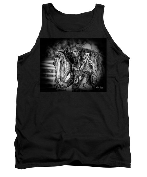 Carrots Cowgirls And Horses  Black Tank Top