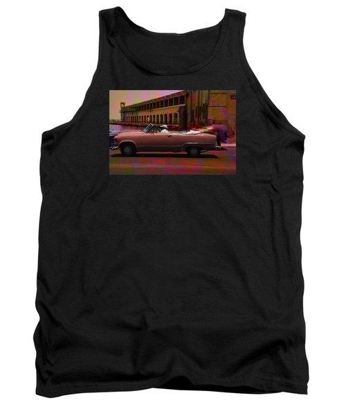 Cars Of Cuba Tank Top by Will Burlingham