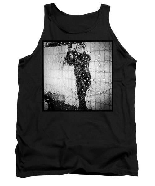 Carwash Cool Black And White Abstract Tank Top