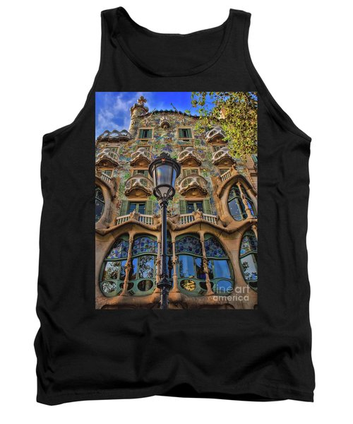Tank Top featuring the photograph Casa Batllo Gaudi by Henry Kowalski