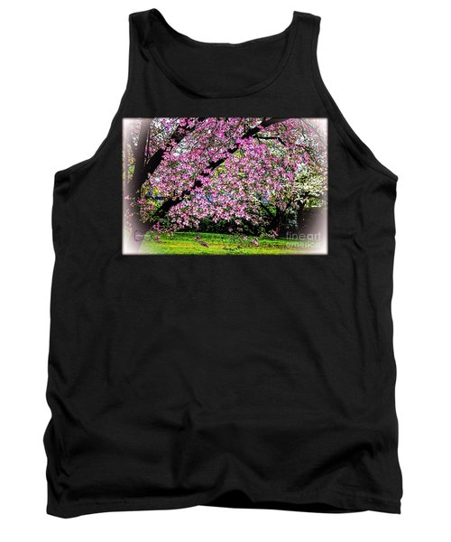 Cascading Dogwood Copyright Mary Lee Parker 17, Tank Top by MaryLee Parker