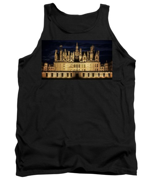 Tank Top featuring the photograph Castle Chambord Illuminated by Heiko Koehrer-Wagner