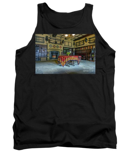 Tank Top featuring the photograph Castle Dining Room by Ian Mitchell