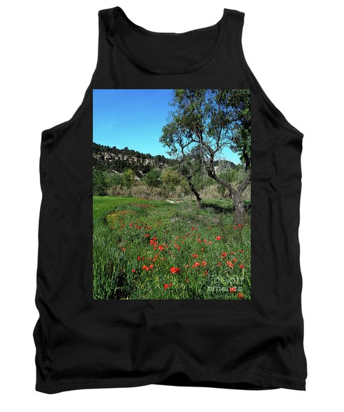 Catalan Countryside In Spring Tank Top