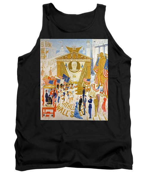 Tank Top featuring the photograph The Cathedrals Of Wall Street - History Repeats Itself by John Stephens