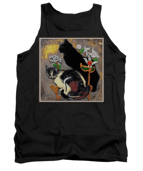 Tank Top featuring the mixed media Cats by Pemaro