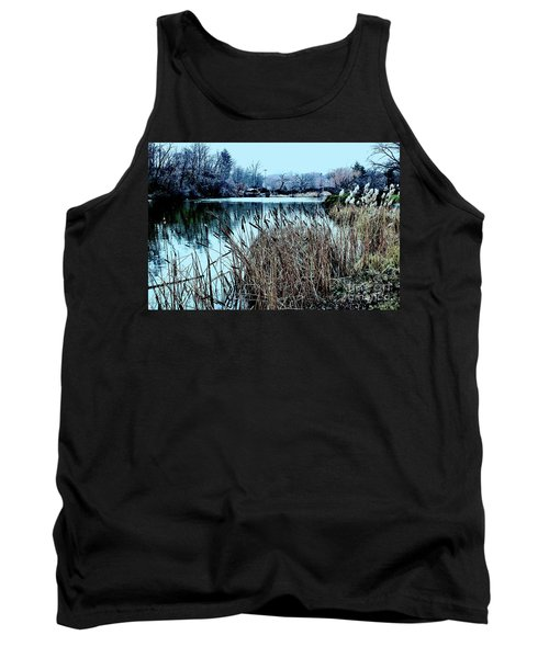 Cattails On The Water Tank Top