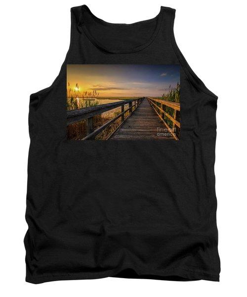 Cedar Beach Pier, Long Island New York Tank Top