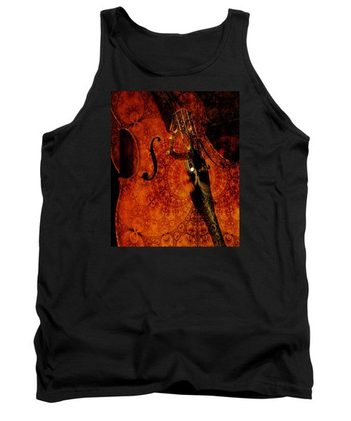 Cellos At Midnight Tank Top by Michele Cornelius
