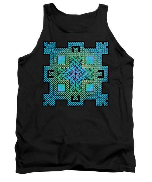 Tank Top featuring the mixed media Celtic Castle by Kristen Fox