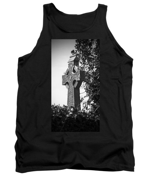 Celtic Cross At Fuerty Cemetery Roscommon Ireland Tank Top