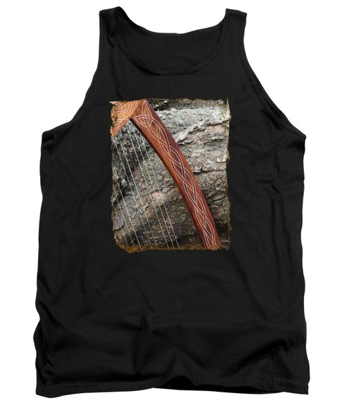 Celtic Harp And The Fallen Tree Tank Top