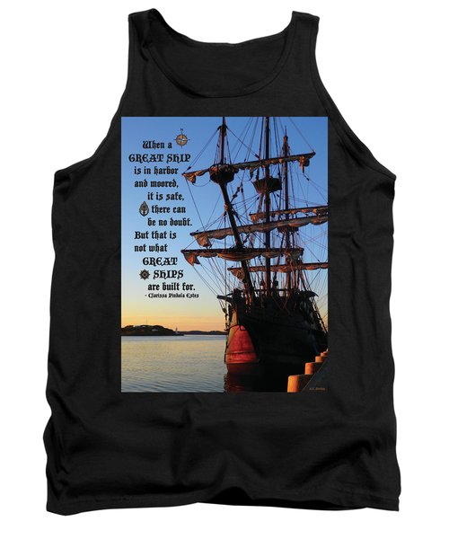 Celtic Tall Ship - El Galeon In Halifax Harbour At Sunrise Tank Top