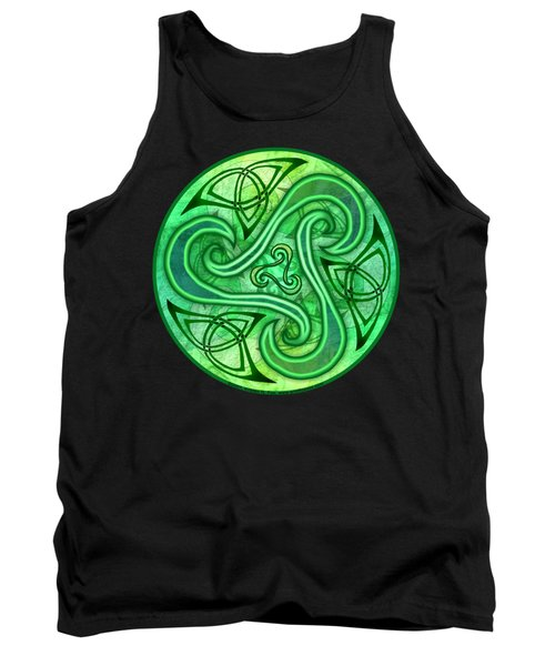 Tank Top featuring the mixed media Celtic Triskele by Kristen Fox