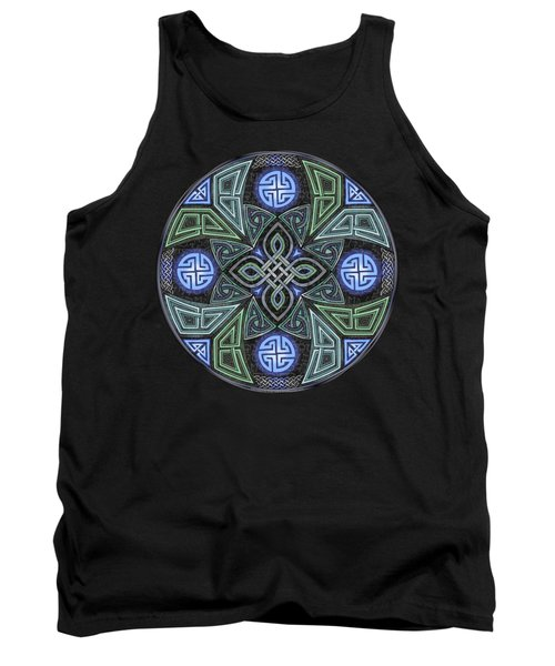 Celtic Ufo Mandala Tank Top by Kristen Fox