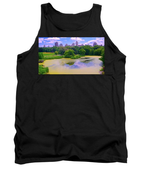 Central Park And Lake, Manhattan Ny Tank Top