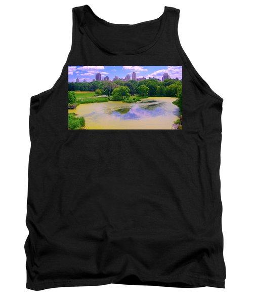 Central Park And Lake, Manhattan Ny Tank Top