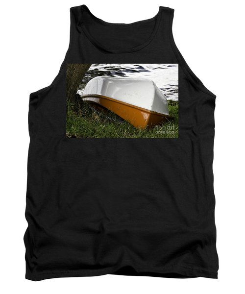 Tank Top featuring the photograph Chained Little Boat Just Waiting by Yurix Sardinelly
