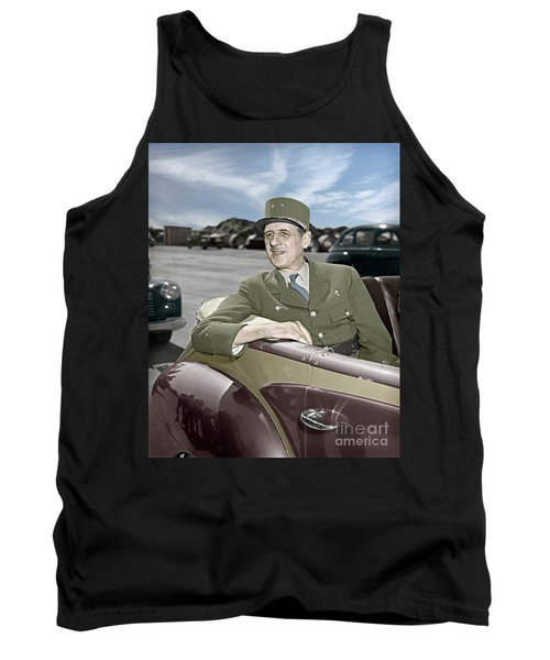 Charles De Gaulle Of France In New York Tank Top