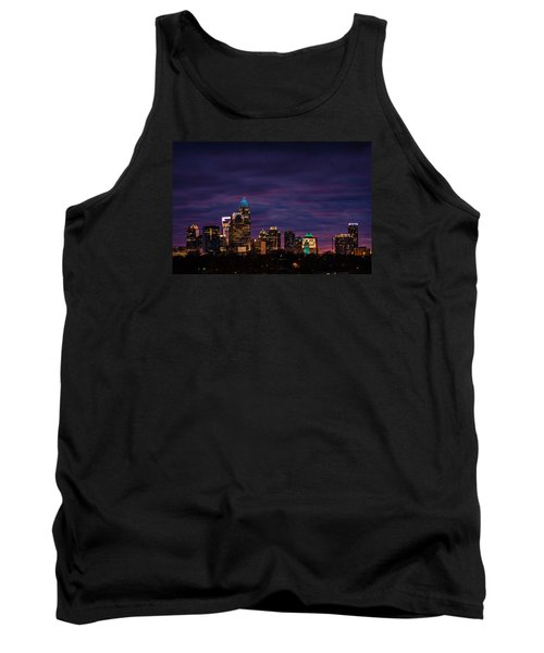 Tank Top featuring the photograph Charlotte, North Carolina Winter Sunset by Serge Skiba