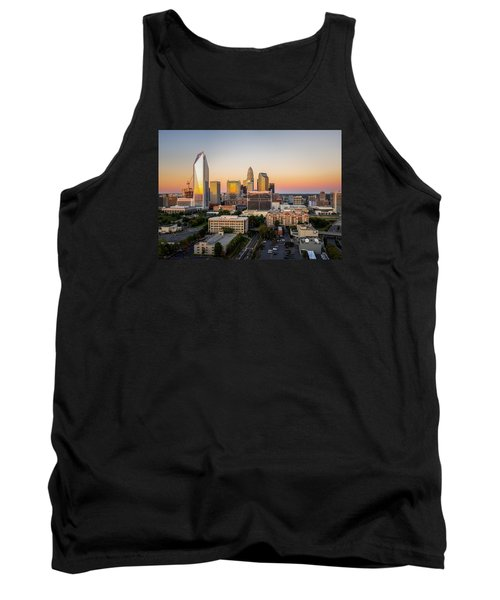 Tank Top featuring the photograph Charlotte Skyline At Sunset by Serge Skiba
