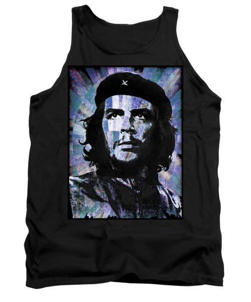 Che Guevara Revolution Blue Tank Top