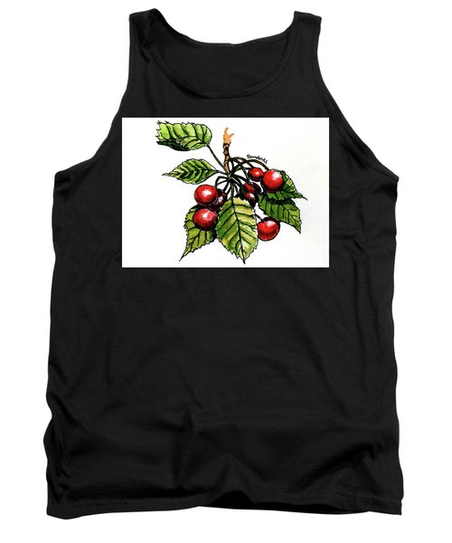 Tank Top featuring the painting Cherries by Terry Banderas