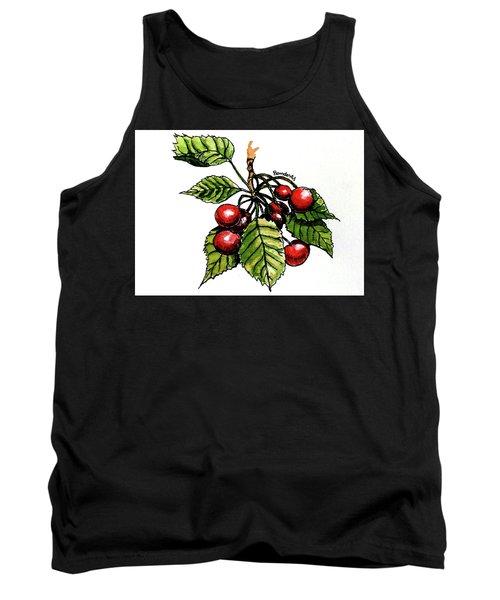 Cherries Tank Top by Terry Banderas