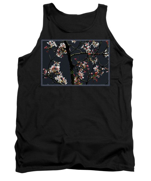 Cherry Blossoms On Dark Bkgrd Tank Top