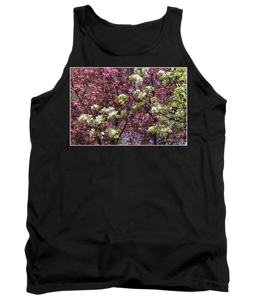 Cherry Tree And Pear Blossoms Tank Top by Dora Sofia Caputo Photographic Art and Design