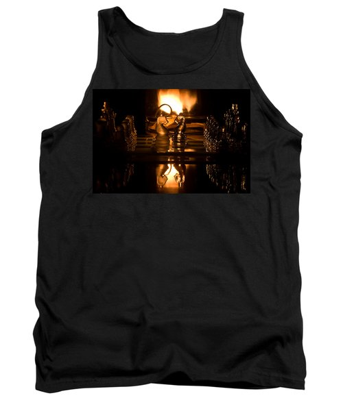 Chess Knights And Flame Tank Top