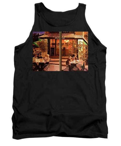 Tank Top featuring the painting Chez Tim by Julie Todd-Cundiff