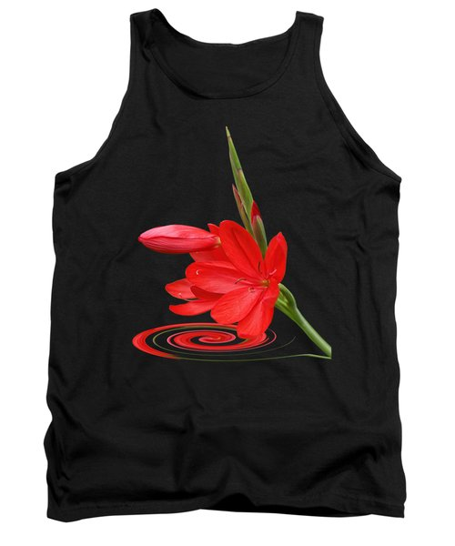 Chic - Ritzy Red Lily Tank Top
