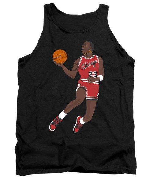Chicago Bulls - Michael Jordan - 1985 Tank Top by Troy Arthur Graphics