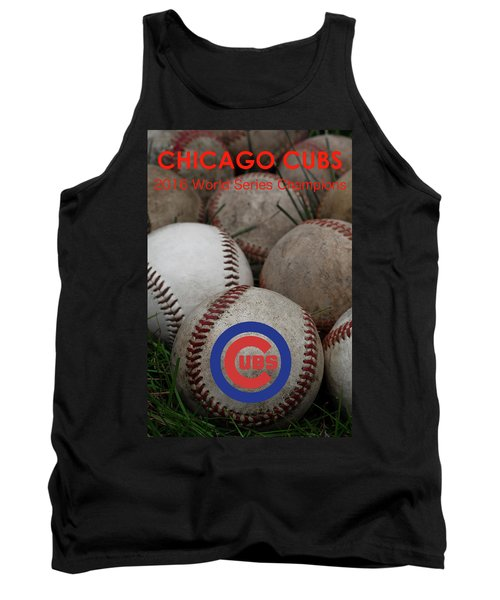 Chicago Cubs World Series Poster Tank Top by David Patterson