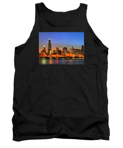 Chicago Dusk Tank Top by Charmaine Zoe