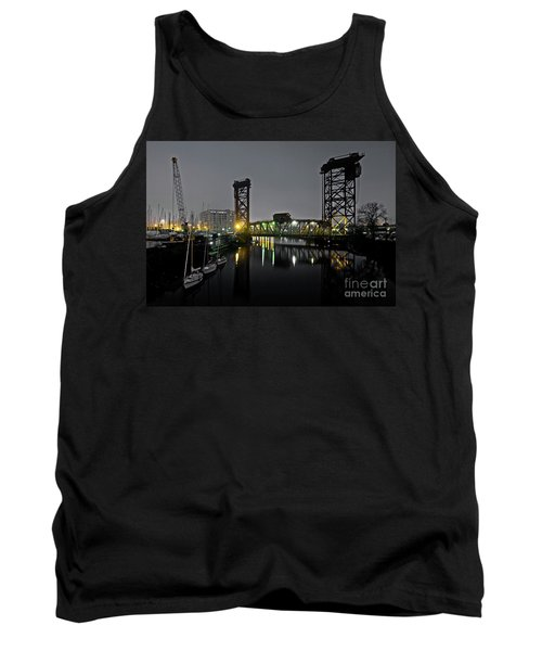 Chicago River Scene At Night Tank Top