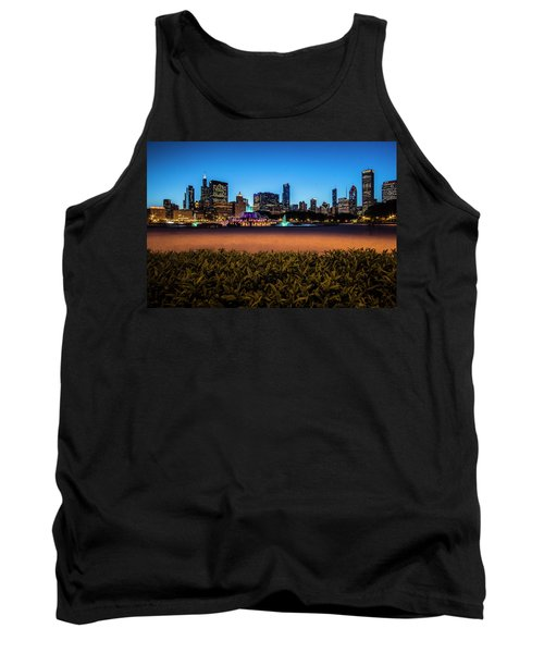 Chicago's Buckingham Fountain At Dusk  Tank Top