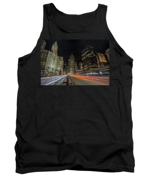 Chicago's Mag Mile Night Streaks Tank Top