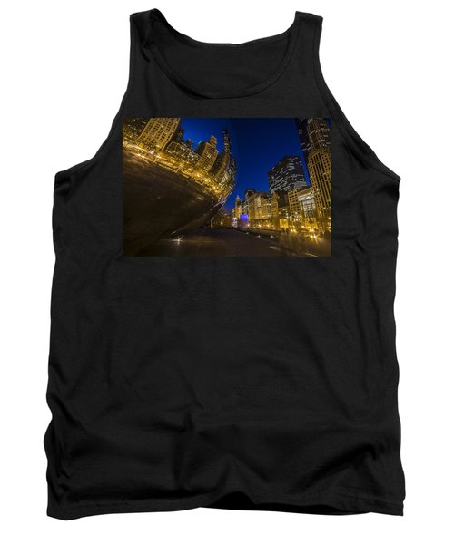 Chicago's Millenium Park At Dusk Tank Top