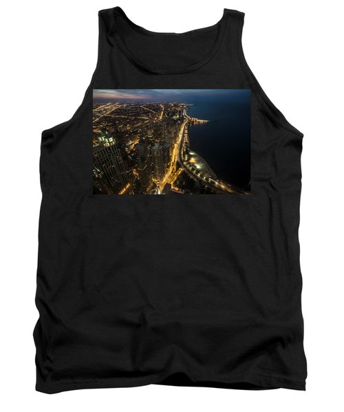 Chicago's North Side From Above At Night  Tank Top