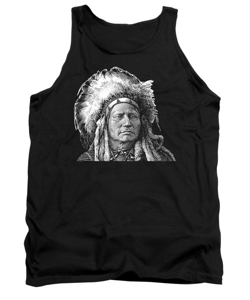 Chief Running Antelope - Native American History Tank Top