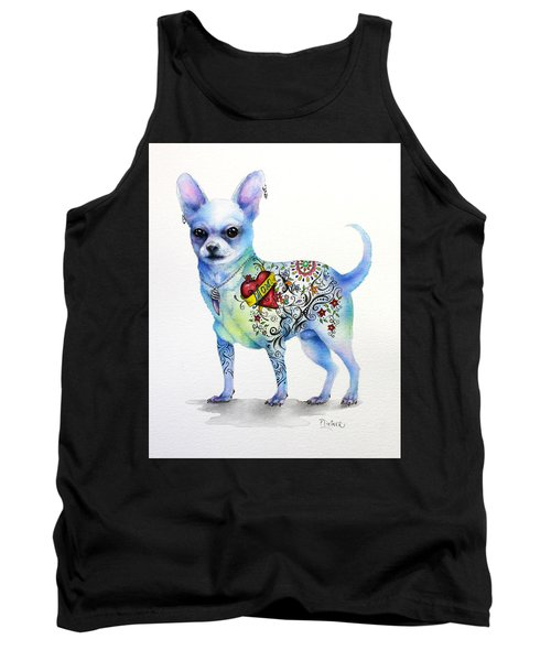 Tank Top featuring the painting Chihuahua Topo by Patricia Lintner