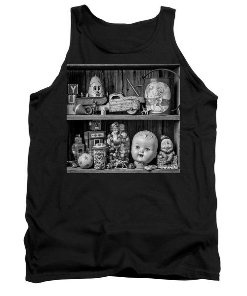 Childhood Toys On Old Shelf Tank Top