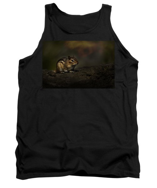 Tank Top featuring the photograph Chipmunk On Rock by Michael Cummings