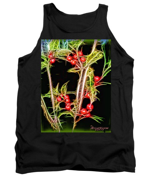 Tank Top featuring the photograph Christmas Berries by EricaMaxine  Price