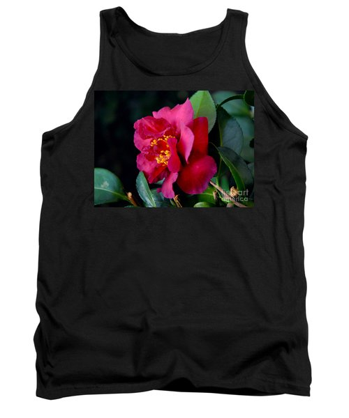 Tank Top featuring the photograph Christmas Camellia by Marie Hicks